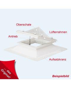 Lichtkuppel quadratisch 60 X 60 cm mit PVC Einfassrahmen