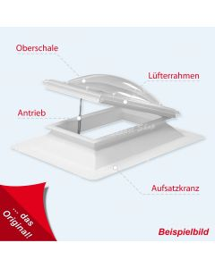 Lichtkuppel rechteckig 150 X 180 cm Typ - Kassel